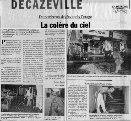 Rue Cayrade - De nombreux dégâts après l'orage - La colère du ciel -DDM-260999.jpg