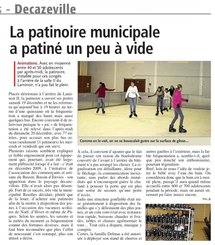 La patinoire municipale à patiné un peu à vide - 030116.jpg