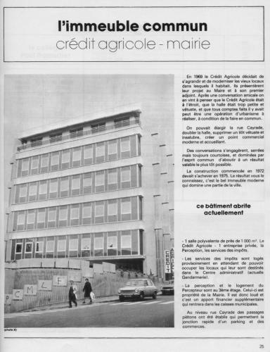 L'immeuble commun, Crédit Agricole - Mairie - Revue municipale 1977.jpg