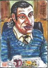 LOLMÈDE - Guy Brunet devant son plat de pâtes.jpg