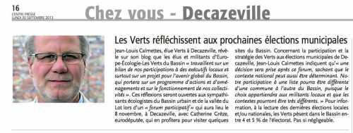 decazeville,municipales,europe Écologie - les verts