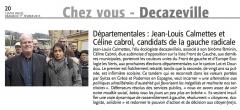 Départementales - Jean-Louis Calmettes et Céline Cabrol candidats de la gauche radicale.jpg