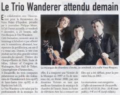Le Trio Wanderer attendu demain -CP-081205.jpeg
